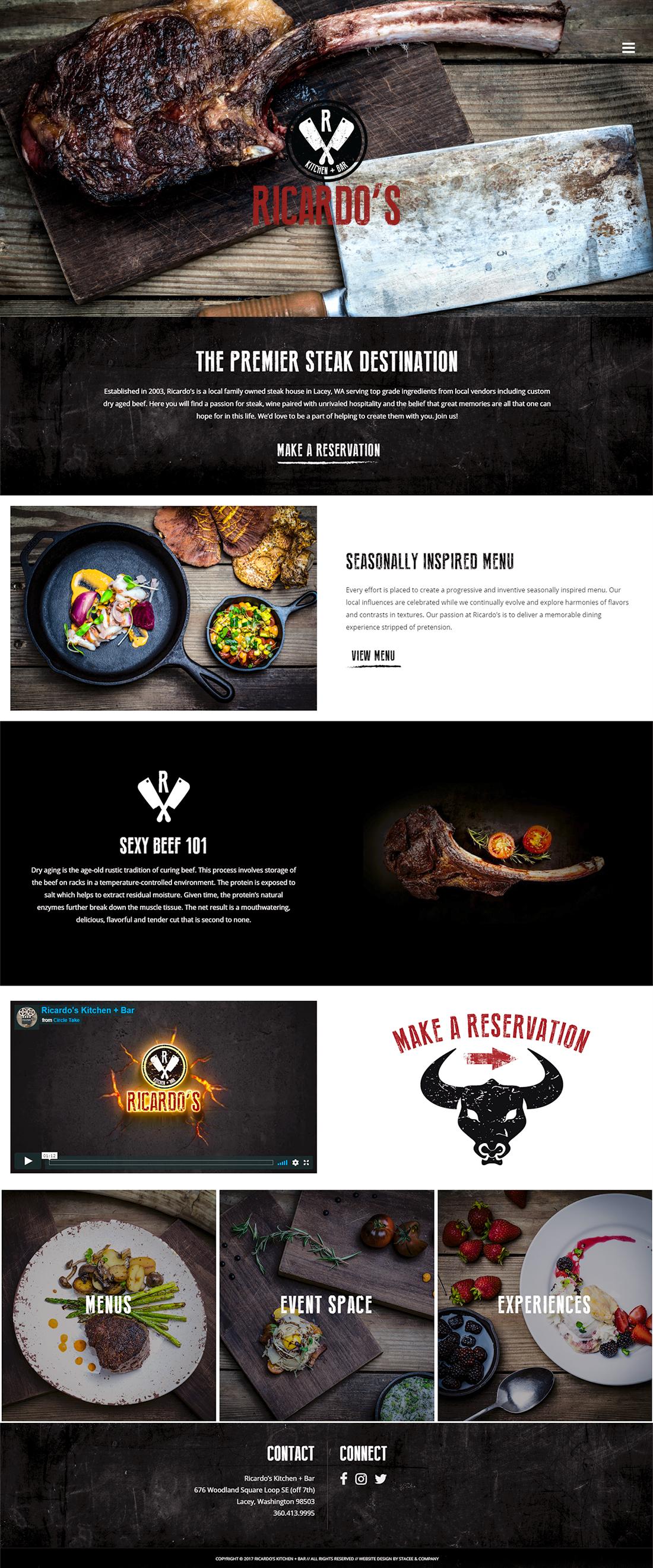 Ricardo S Kitchen Bar Seattle Web Design Company Seattle Web